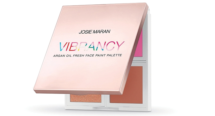 Josie Maran Cosmetics customized WWP's Quad Compact, creating a high-end vessel for its Vibrancy color cosmetics.