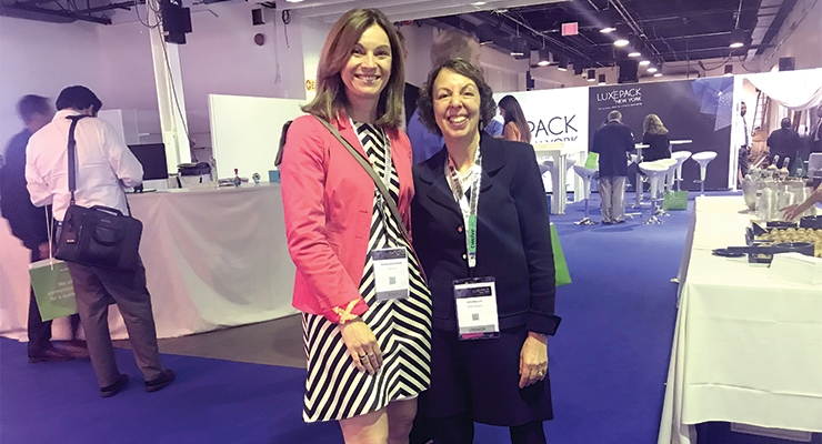 Beauty Packaging's editor-in-chief Jamie Matusow with Nathalie Grosdidier, Luxe Pack