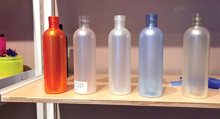 Badger Color Concentrates' new Stretch Frost effect for blow-molded bottles.