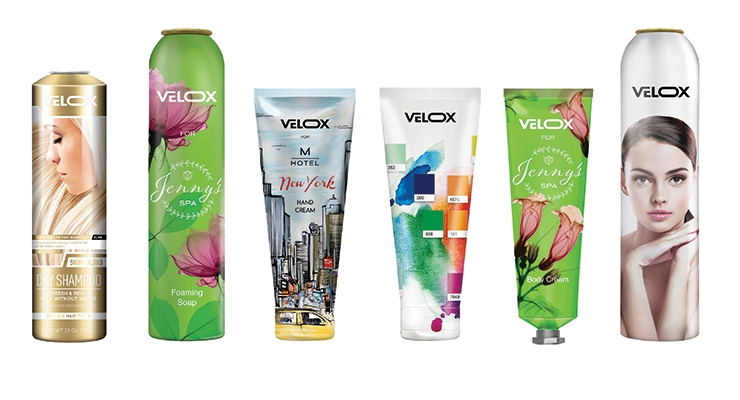 Velox offers full production speed printing on any metallic substrate—and can print on both tube and cap once assembled.