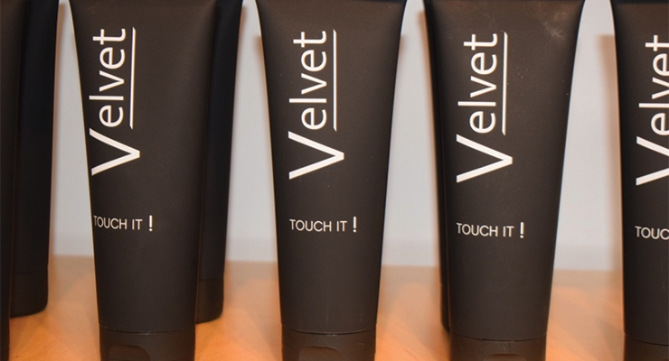 One of the newest launches at Viva IML Tubes,  Velvet features a unique, luxurious, soft-touch finish.