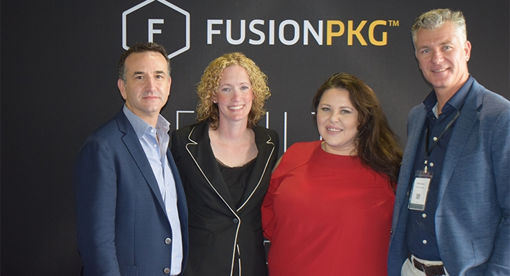 Fusion Packaging: (L-R): Jonathan Gross, Lesley Gadomski, Kelly Kopa, Derek Harvey