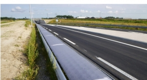 Flexible Solar Cells in Crash Barrier