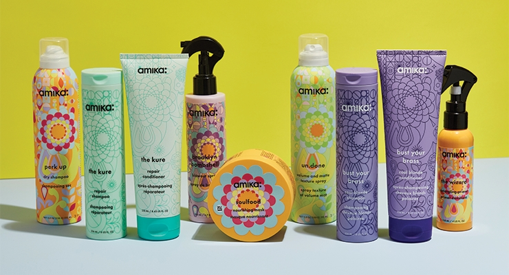 amika's packaging relaunch