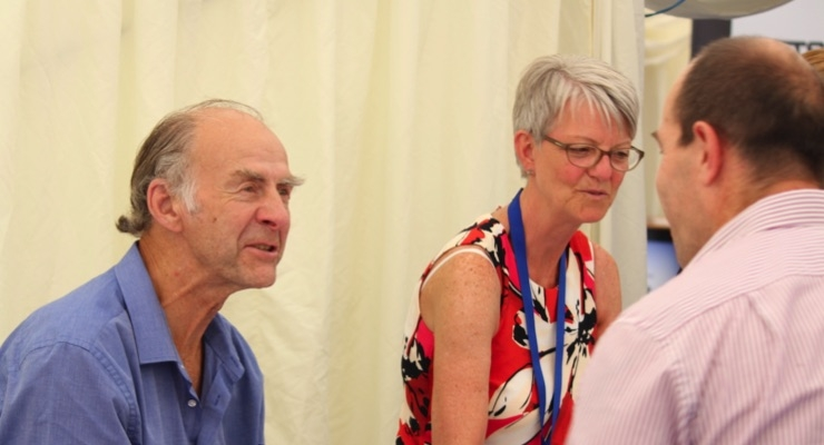 After delivering his speech, Sir Ranulph Fiennes signed copies of his latest book.
