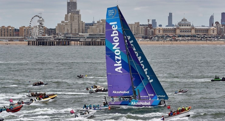Team AkzoNobel Bids Farewell to Home Base with Regatta Still in its Sights