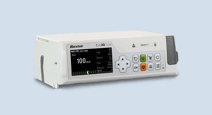 Evo IQ delivers a state-of-the-art system with proven Dose IQ Safety Software to help elevate the standard of patient safety. Image courtesy of Baxter.