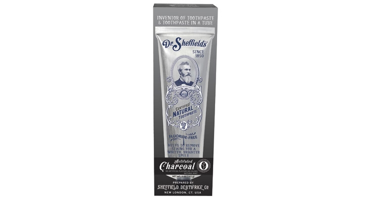 Dr. Sheffield's offers activated charcoal toothpaste.