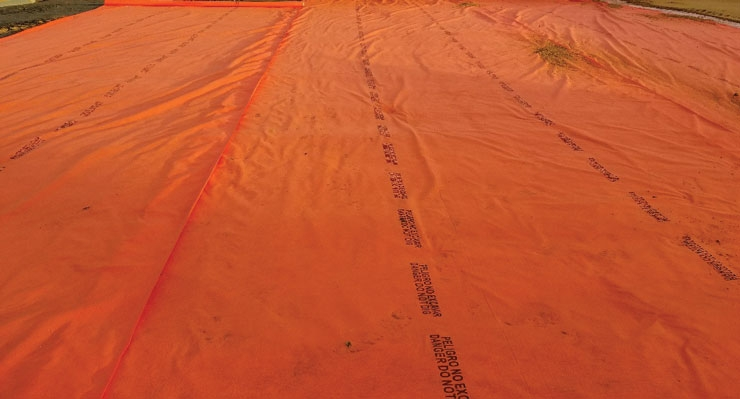 This year Propex launched Geotex DND Orange, a demarcation fabric that signals excavators from further digging in areas that may have hazards.