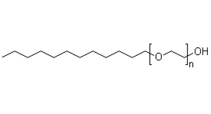 Figure 8. BrijTM surfactant – C12 linear alcohol ethoxylate.