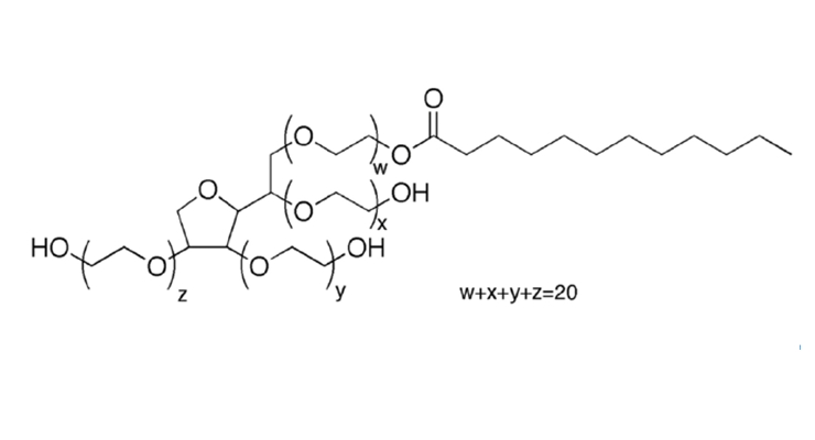 Figure 9.  TweenTM 20, ethoxylated sorbitol.