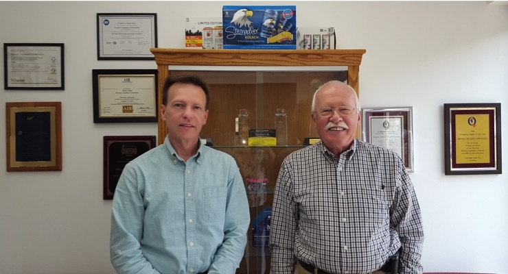 eff Plier, Wausau's vice president of sales and marketing, and Chuck Plier, Wausau's president.