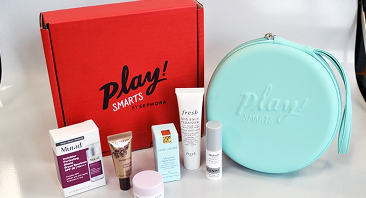 Sephora's newest PLAY! SMARTS box is 'Skincare by Age.'