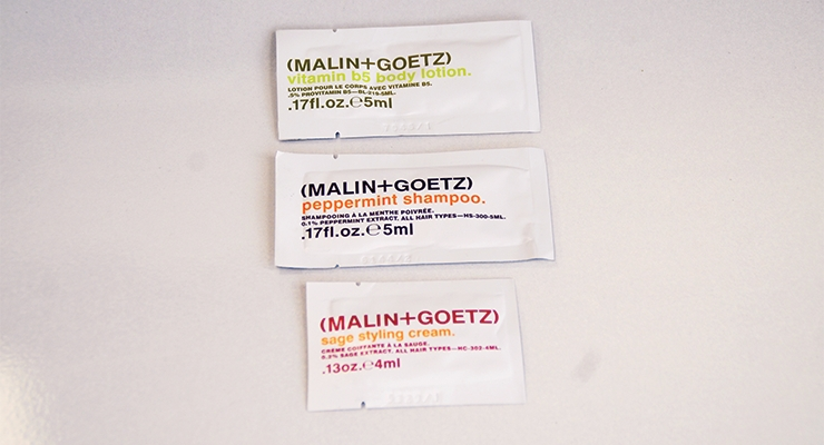 Sample packaging by Paket Corp.  for Malin + Goetz hair care