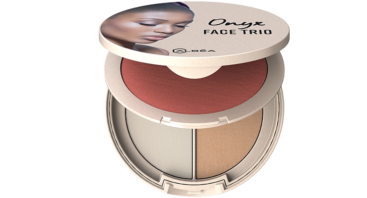 Onyx Face Trio, a turnkey solution from Albéa provides a full-face routine in one on-the-go modular compact.
