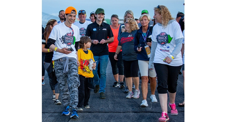 PPG-sponsored Track Walk Raises $25,000 for Speedway Children's Charities