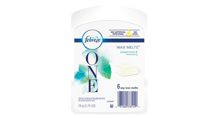 Febreze One wax melts are now made  without artificial perfumes or dyes.