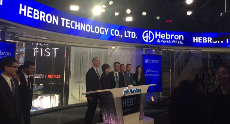 Hebron Technology Collaborating With Two U.S. Companies on Medical Device Projects