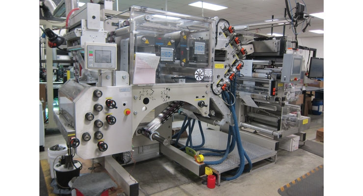 Hub Labels utilizes the Comac coating machine from Ravenwood Packaging to manufacture its linerless labels.
