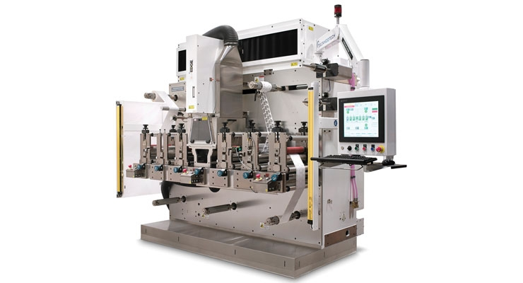 A Delta ModTech finishing machine  equipped with Edge laser diecutting technology.