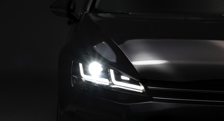 Osram's LEDriving headlights for the VW Golf VII. (Source: Osram)