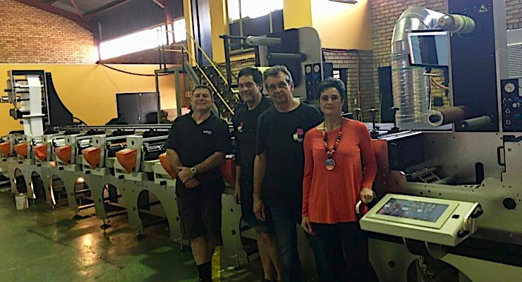South African label printing company purchases Edale press