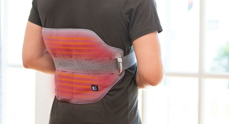 Typically, wraps are used for relief from deep tissue and stiff muscle pains, sports injuries, back and neck pain, surgical recovery, sciatica, arthritis, and more. Image courtesy of Venture Heat.
