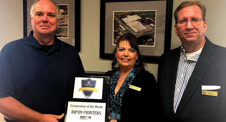 Ripon won Heidel House's Corporation of the Month award in March.