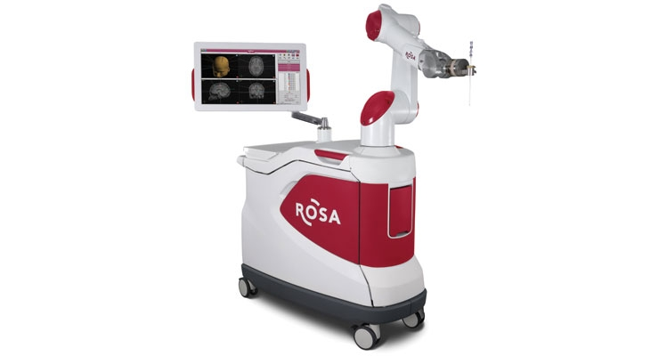 Zimmer Biomet Holdings Inc. acquired the ROSA Robotic Surgical Assistant in early 2017 with the $132 million purchase of Medtech SA. Image courtesy of Zimmer Biomet.