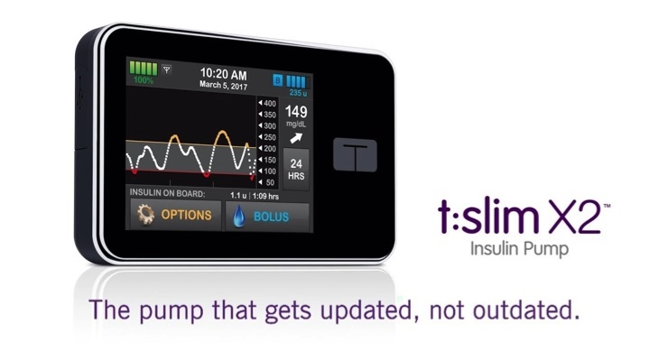 Tandem Diabetes Care Launches t:slim X2 Insulin Pump With Basal-IQ Technology