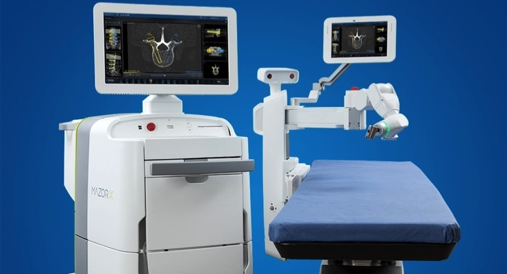 The Mazor X System, pictured above, is now part of Medtronic