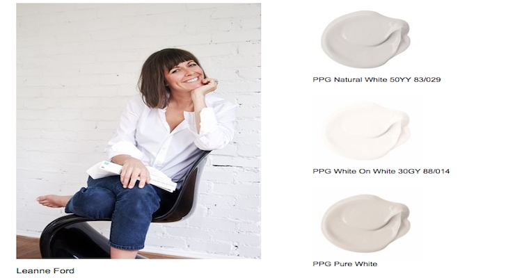 PPG, HGTV Designer Leanne Ford Introduce White Paint Palette