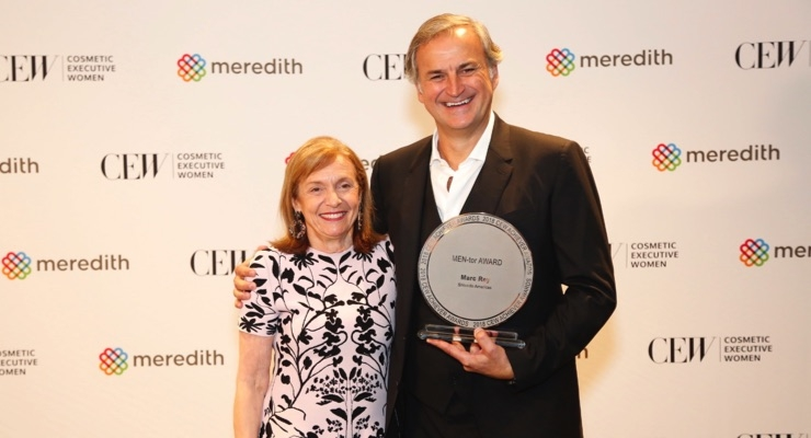 CEW President Carlotta Jacobson and Shiseido President and CEO Marc Rey