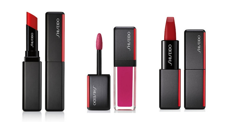 A Look at Shiseido Makeup: Lipstick 3 Ways, in 3 Textures — VisionAiry Gel Lipstick, LacquerInk Lip Shine, and ModernMatte Powder Lipstick
