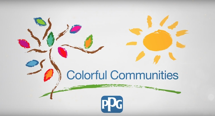 PPG Completes COLORFUL COMMUNITIES Project at the Association of Friends for Asylum