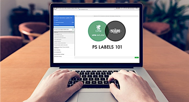 UPM Raflatac and The Packaging School launch online PS label course