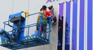 Installation of HeliaSol on Duisburger Hafen AG Facade