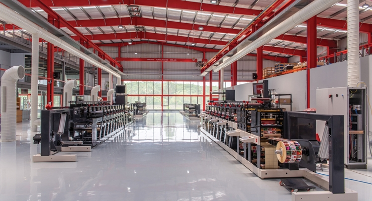 Nilpeter's new production plant and demo center in Chennai, India.