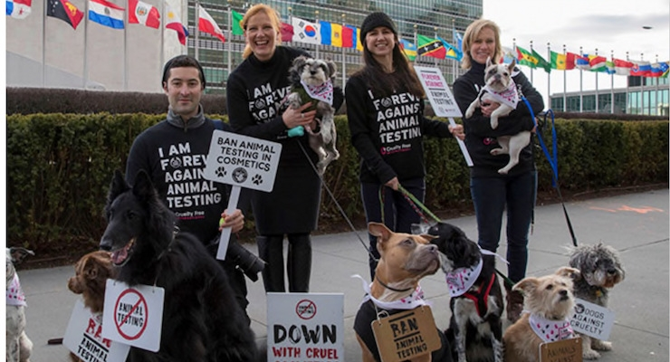 The Body Shop Brings 8 Million Signatures to UN To End Cosmetic Animal Testing Globally