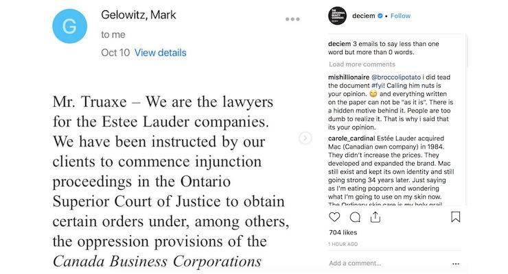 Estee Lauder Sues Deciem Founder Due To This Instagram Post