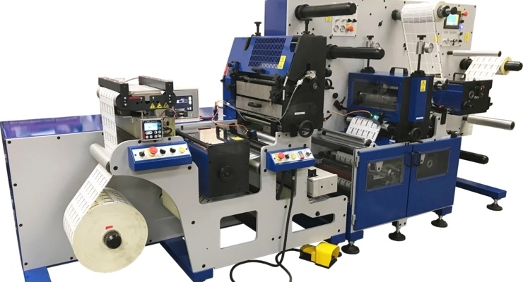 Daco DF350SR semi-rotary diecutter for the finishing of digitally printed labels