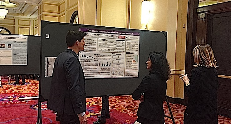 Several posters generated interest among attendees.