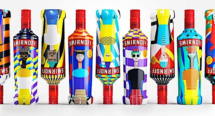 HP has enabled the creation of individualized designs for Diageo's Smirnoff.