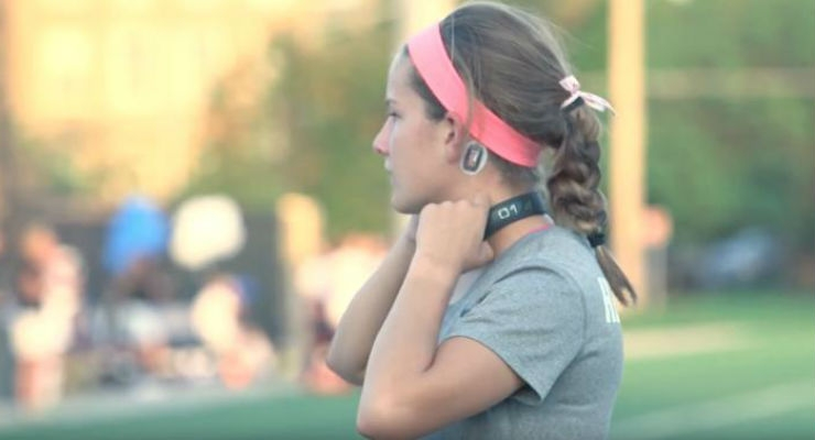 Seton High School soccer player wearing the Q-Collar. Image courtesy of Cincinnati Children