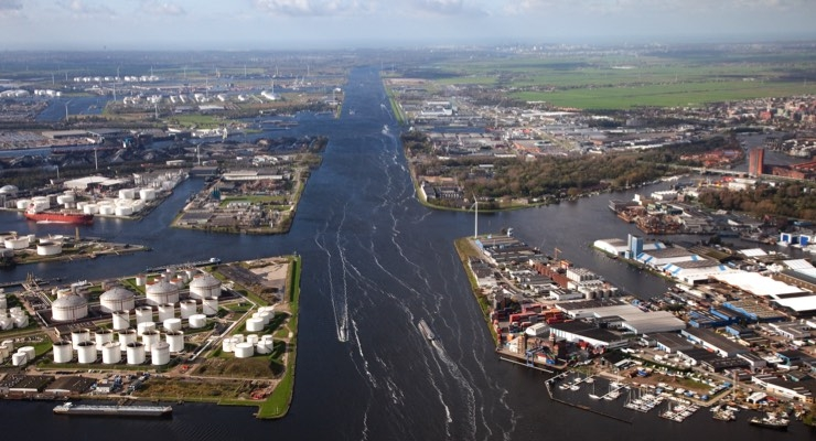 Aerial view of the Port of Amsterdam/Courtesy Nouryon