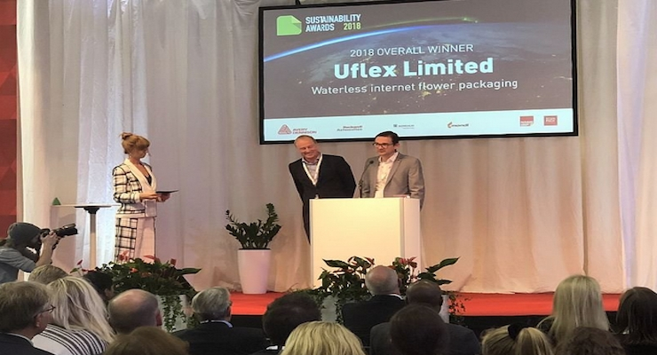 Uflex's Waterless Internet Flower Packaging Wins Top Honors at Sustainability Awards 2018