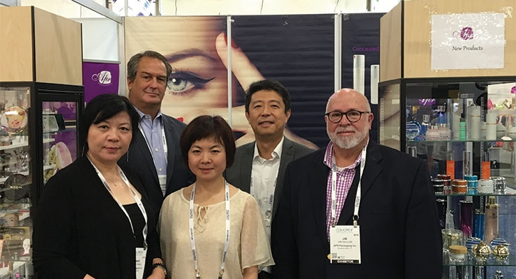 APR Packaging (L-R): Bonnie Wang, Mike Cafiero, Ice Lee, John Shen, Jim Keelen