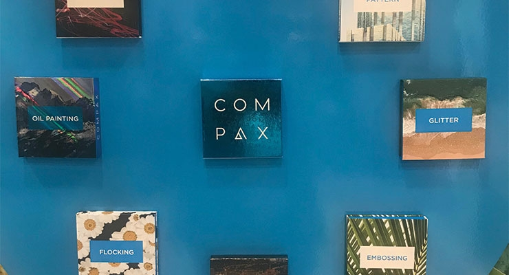 New paper compacts stood out at Compax, with a range of exquisite decoration from glitter effects to soft-touch.