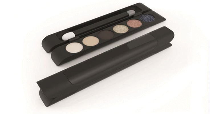 Asquan Group's Dark Art Calligraphy Kit, a stylized mini eye palette