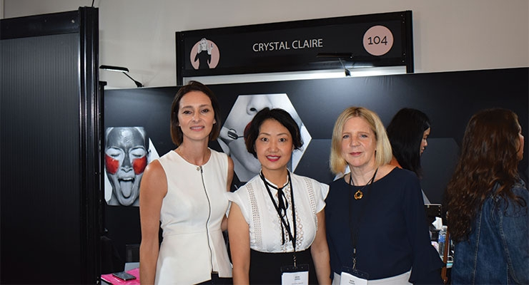 Crystal Claire (L-R): Carli Windsor, Irene Zheng, Dede Yoder